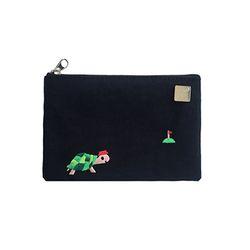 tortoise card pouch
