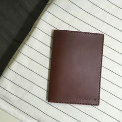 neat.A Passport Case . Brown