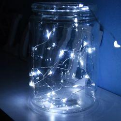 LED 20P 와이어 건전지(밧데리)전구 [백색]