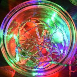 LED 30P 건전지(밧데리) 투명선 칼라