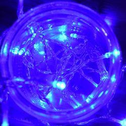 LED 30P 건전지(밧데리) 투명선 남색