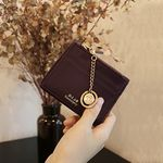 D.LAB Coin name card wallet  - Burgundy
