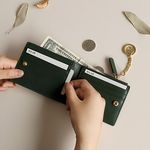 [별자리 키링증정] D.LAB Coin Half wallet  - Green