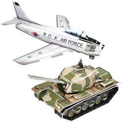 [3D입체퍼즐] F-86 세이버 전투기와 M48 패튼 전차