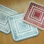 에스닉 극세사 메모리폼사각방석 - 3color