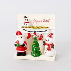 크리스마스 산타 미니 벽난로 피규어