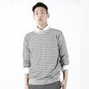 FLEXIBLE STRIPE KNIT GRAY