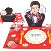반8 남치니 로맨틱 식탁매트