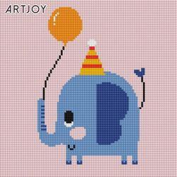 아트조이 DIY 보석십자수 아기 코끼리 준 25x25cm