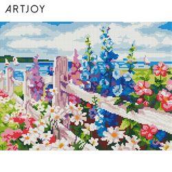 아트조이 DIY 보석십자수 해변의 꽃 30x40cm
