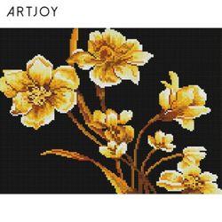 아트조이 DIY 보석십자수 황금 꽃 30x40cm
