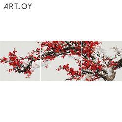아트조이 DIY 보석십자수 꽃 피는 나무 3단 25x25cm