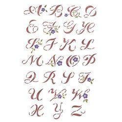 스텐실 도안(A3)덩쿨알파벳