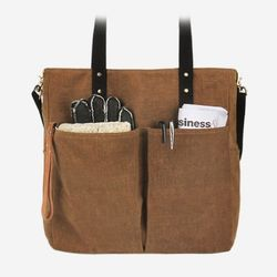 6 Pocket 3 Way Bag - Wax Canvas Camel