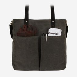 6 Pocket 3 Way Bag - Wax Canvas Charcoal