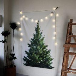 초대형 크리스마스 트리 태피스트리.패브릭 포스터
