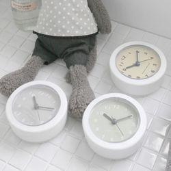 클래식 욕실방수시계(3color)