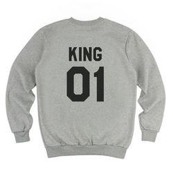 [킹포에틱] KING POETIC CREWNECK KP-KC001 (MELANGE)