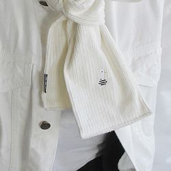 Duck CODUROY(thick) muffler - White