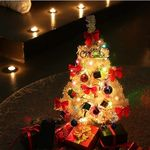 크리스마스트리 화이트 60cm 전구포함 풀세트-어댑터X
