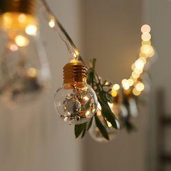 올리브가랜드 + LED 에디슨 전구 풀세트 M (배터리팩)