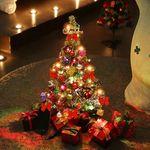크리스마스트리 2단 중형 눈꽃 130cm 전구포함 풀세트