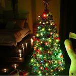 크리스마스트리 2단 중형 눈꽃 160cm 전구포함 풀세트