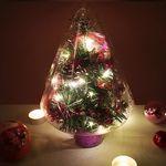 크리스마스트리 25cm 퍼플 탁상용 수제 미니트리