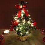 크리스마스트리 25cm 레드 탁상용 수제 미니트리