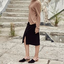 [LUDE]Pencil Skirt - Black