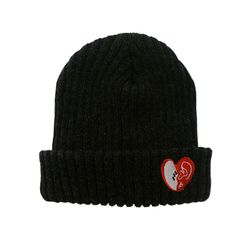 bpb MIX LUV BEANIE - DARK GRAY_b