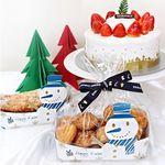 크리스마스 트레이 포장세트 (눈사람블루4set)