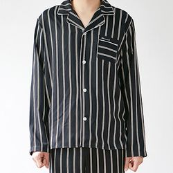 stripe pajama shirt (men) 스트라이프 파자마 셔츠