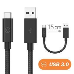 랩씨 3.0 USB C to USB A 충전 데이터 케이블 15cm LABC-562