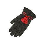 Color Glitter tassel Gloves gold red