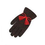 Color Glitter tassel Gloves red red