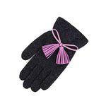 Color Glitter tassel Gloves blue purple