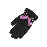 Color Glitter tassel Gloves green purple