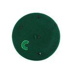 Triangle C wool beret green