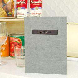 나만의 맛있는 기록 제이로그 레시피북 바인더-그레이