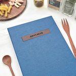 나만의 맛있는 기록 제이로그 레시피북 바인더-딥블루