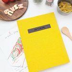 나만의 맛있는 기록 제이로그 레시피북 바인더-옐로우
