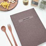 맛있는 기록 제이로그 레시피북 바인더-초코브라운