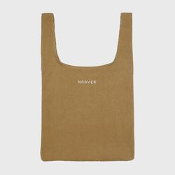Corduroy line shopping bag-beige