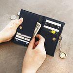[골드링 증정] D.LAB Coin Card wallet  - Navy
