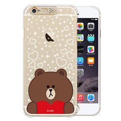 아이폰6플러스 라인프렌즈 라이팅케이스-브라운하트