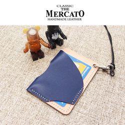 [메르카토]비대칭카드지갑목걸이 만들기 가죽공예DIY