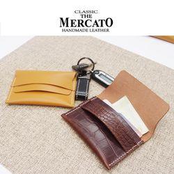 [메르카토]덮개명함지갑만들기 가죽공예DIY