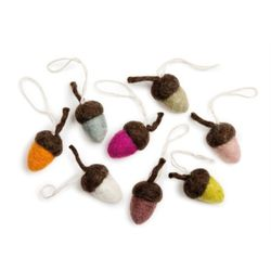 Acorns Ornament Set of 8pcs