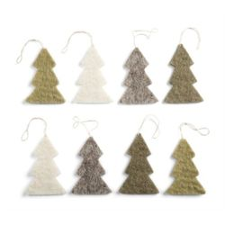 Trees Ornament Set of 8pcs